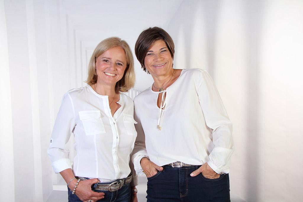 Trainer Doris Marx-Ruhland und Nina Gutzeit